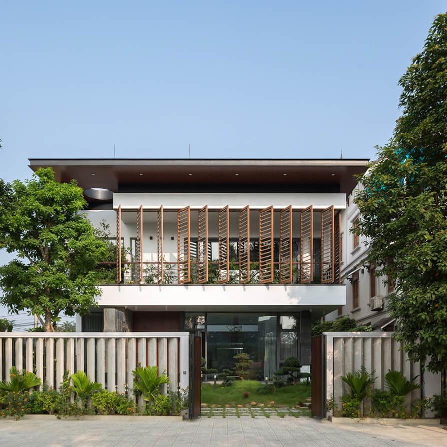 Thiết kế nhà phố hiện đại mặt tiền 12m – sang trọng hiện đại