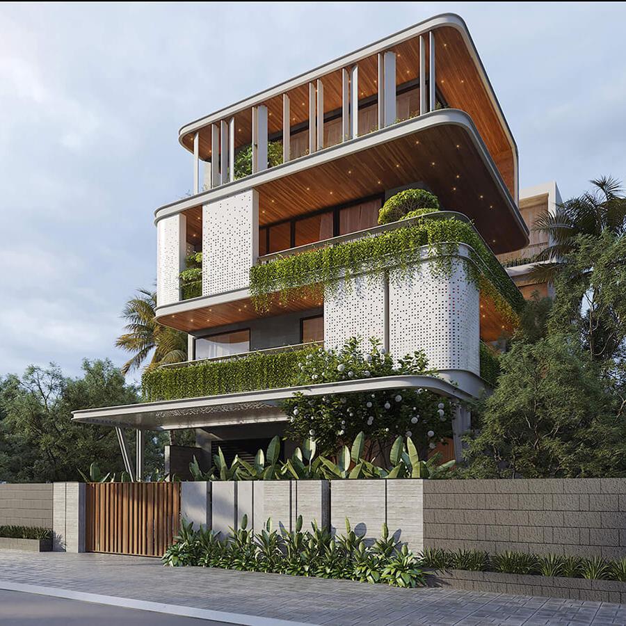 Biệt thự 4 tầng phong cách hiện đại – xu hướng trong tương lai