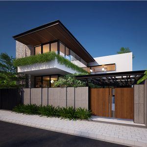 Biệt thự biển Vũng Tàu có mặt tiền 9m với phong cách kiến trúc sáng tạo