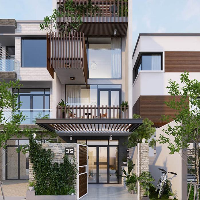 Thiết kế nhà phố 3 tầng 1 tum 6x15m ấn tượng