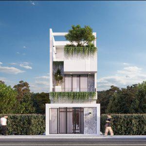 Nhà phố lệch tầng 5x15m tận dụng tối đa ánh sáng tự nhiên