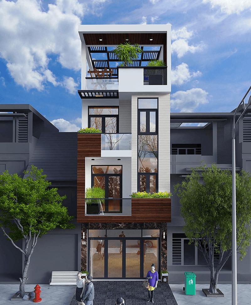 Mẫu nhà phố 4 tầng 4x12m có chi phí đầu tư vừa phải cho vợ chồng trẻ