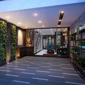 Nội thất nhà phố 7 tầng – Phong cách kiến trúc thiền định nhưng vẫn sang trọng