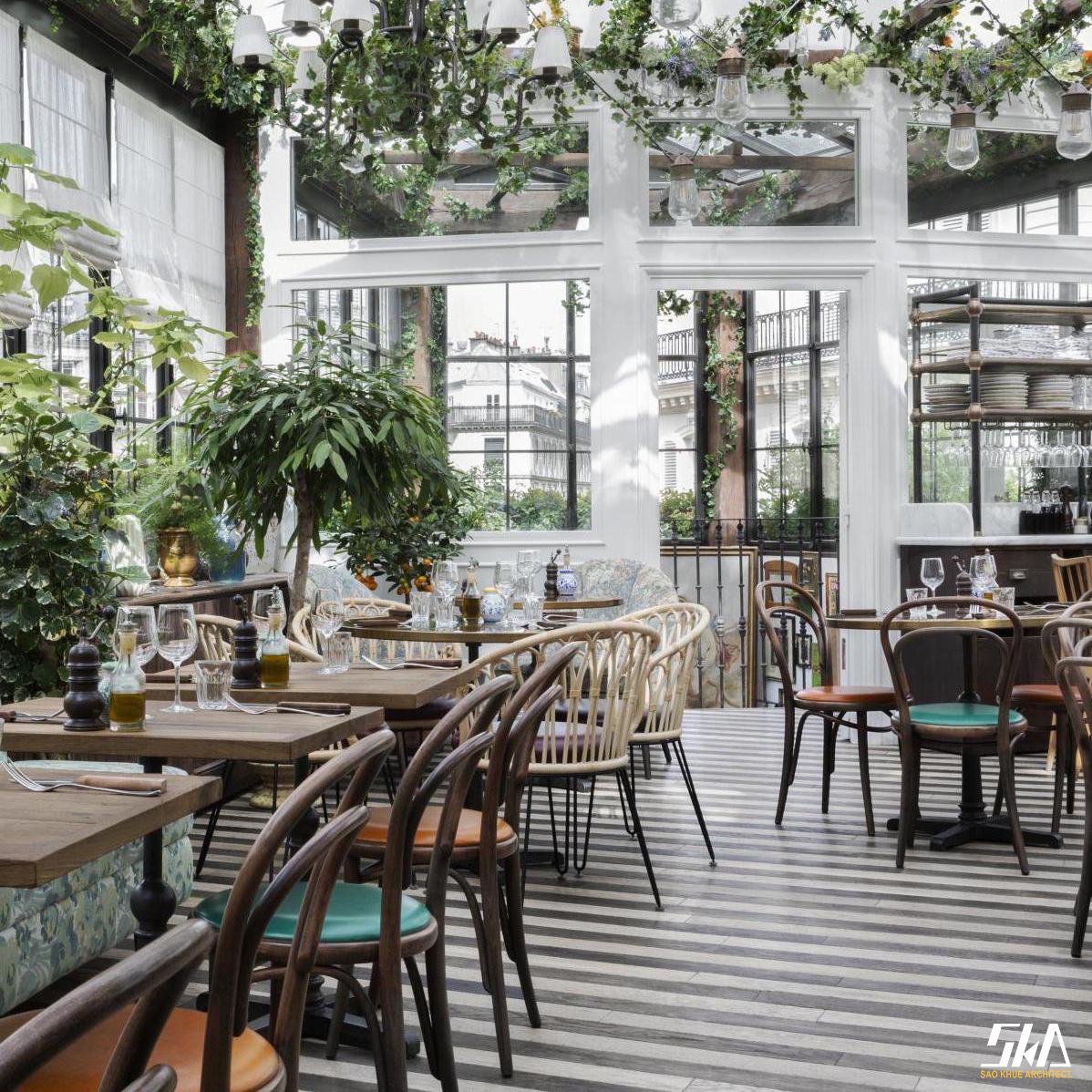 Thiết kế nhà hàng – Bar phong cách Pháp thu hút giới trẻ