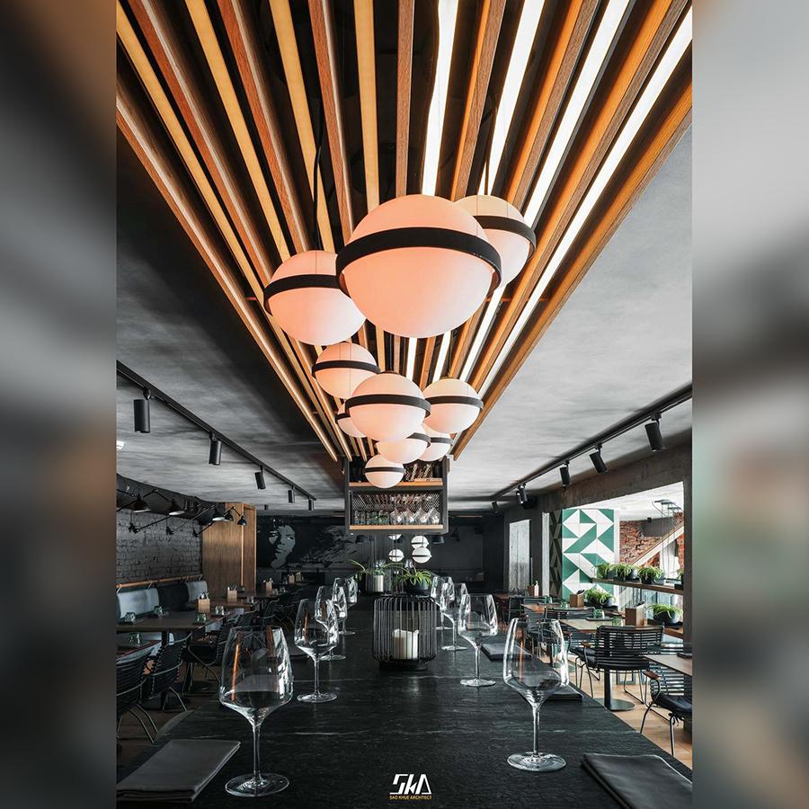 Thiết kế nhà hàng theo phong cách Công Nghiệp (industrial) – đơn giản & sang trọng