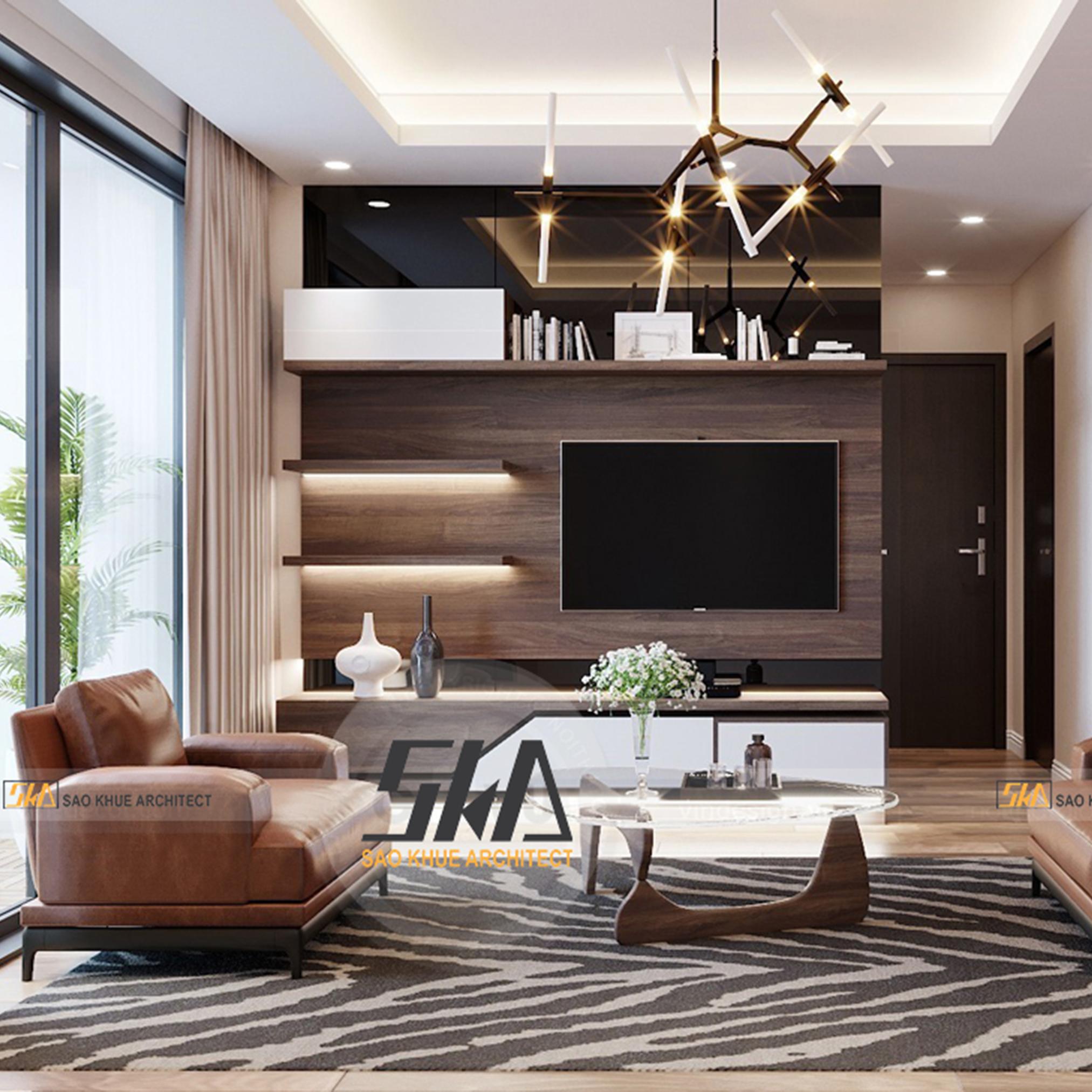 Thiết kế nội thất chung cư NowZone 3 phòng ngủ hiện đại, sáng tạo
