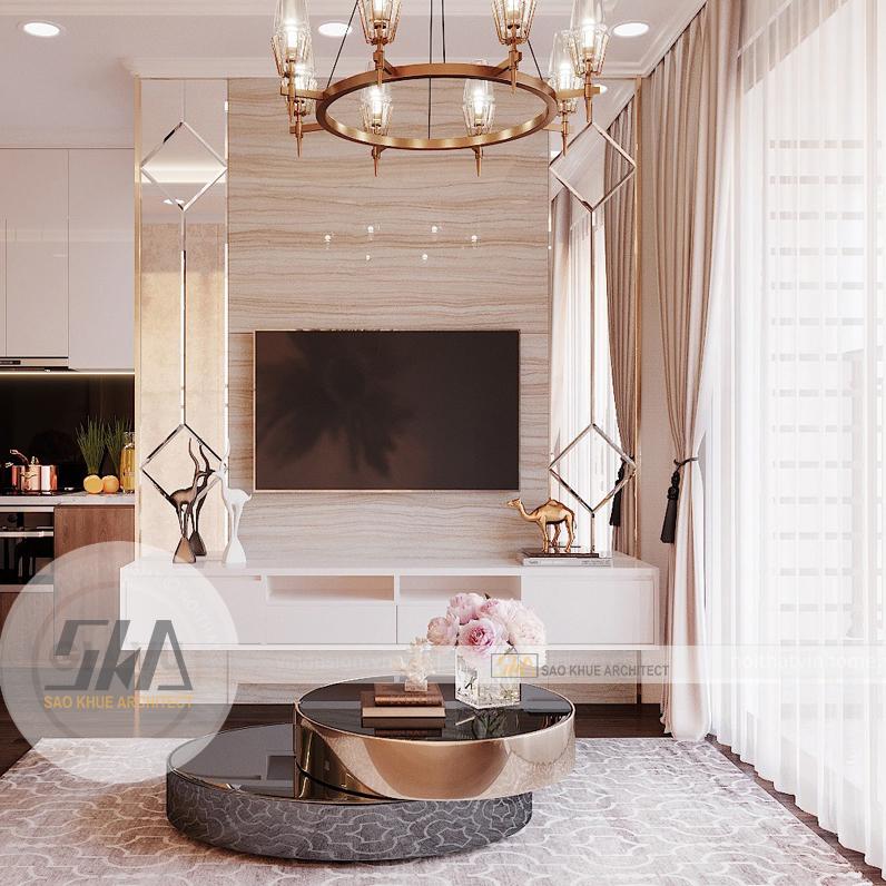 Thiết kế nội thất căn hộ chung cư Palm Heights – 2 Phòng Ngủ