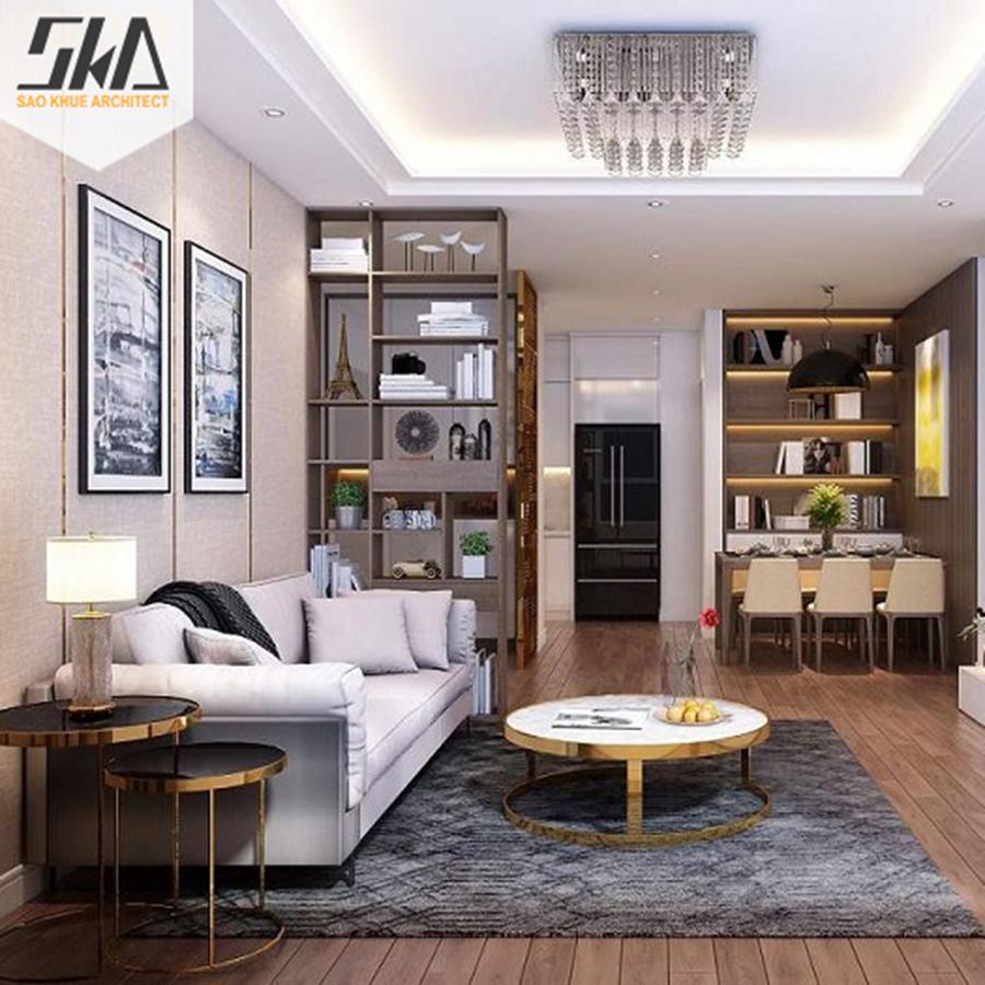 10 mẫu thiết kế nội thất chung cư 60 m2 ấn tượng nhất 2021